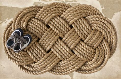 braided coir doormat nautical braided rope welcome mat large by the landlocked