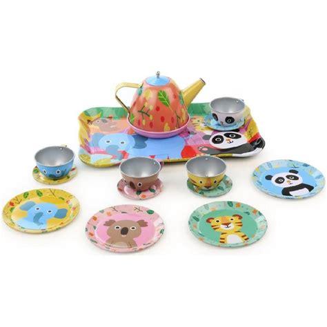 jeux de cuisine service service à thé la jungle jouet vilac fille enfants