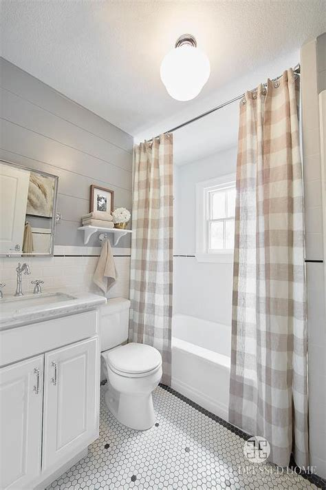 bathroom buffalo check curtains country bathroom