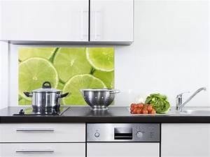 Wandbilder Küche Glas : k chenr ckwand spritzschutz k che aus glas glasr ckwand limetten gr n frucht ebay ~ Whattoseeinmadrid.com Haus und Dekorationen