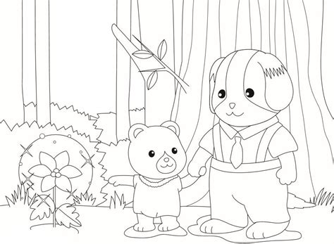 calico critters coloring pages    print