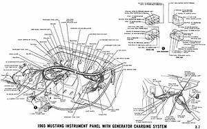 1965 Mustang Instrument Panel With Alternator Charging System Pictorial Instrument Cluster
