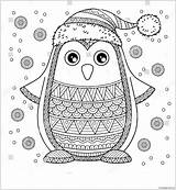 Christmas Pages Penguin Jolly Merry Coloring Holidays Printable Coloringpagesonly sketch template