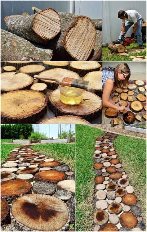 Garden Decoration Logs by Diy Rustic Log Decoration Ideas Best Logs On