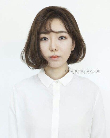 korean wave cushion perm hair style wave cut straight