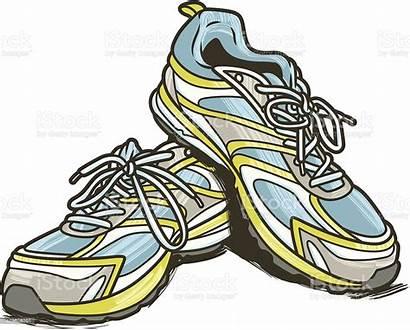 Shoes Running Vector Cut Shoe Pair Illustration