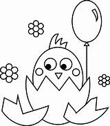 Coloring Feet Chicken Printable Chick Easter Popular sketch template