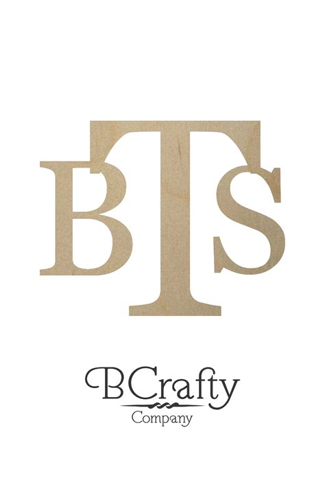 Wooden Initial Monogram - BCrafty Company