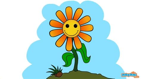 draw  sunflower step  step drawing  kids