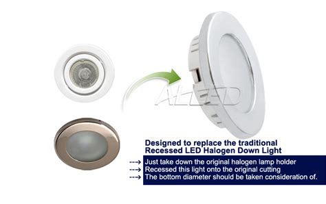 12v recessed led cabin down light ceiling roof caravan