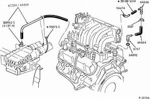 I Need A Diagram Of The Engine Compartment Of A 94 Ford