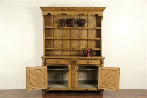 Pewter Cupboard by Sold Country Pine 1860 S Hutch Or Pewter Cupboard