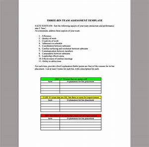 Cease And Desist Template Assessment Template For Team Sample Of Team Assessment