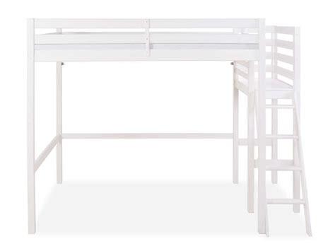 magasin chambre lit mezzanine 140x200 cm melody coloris blanc vente de