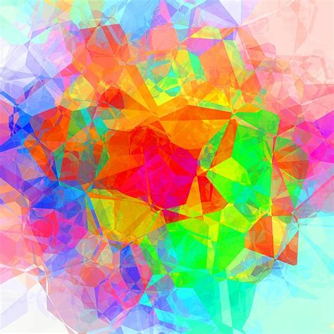 illustration colorful abstract polygon