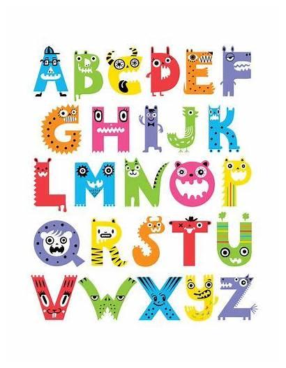 Monsters Alphabet Bird Monster Inc Society6 Police