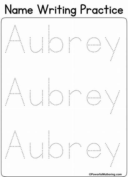 Tracing Writing Worksheets Font Practice Aubrey Printables