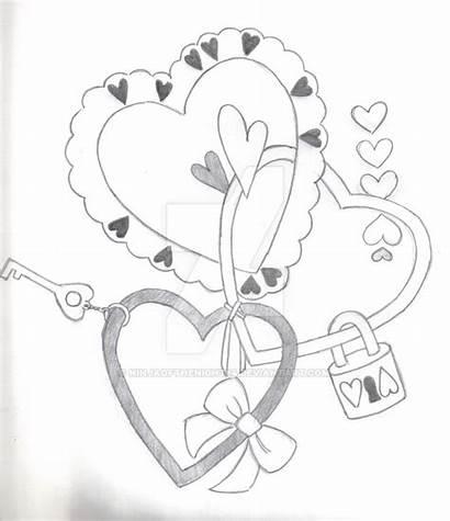 Lock Key Heart Drawing Getdrawings