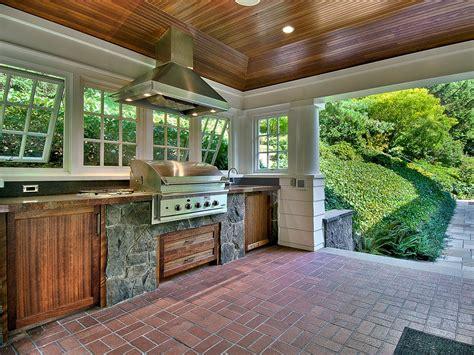 patio kitchen design craftsman porch with exterior brick floors wrap around 1424
