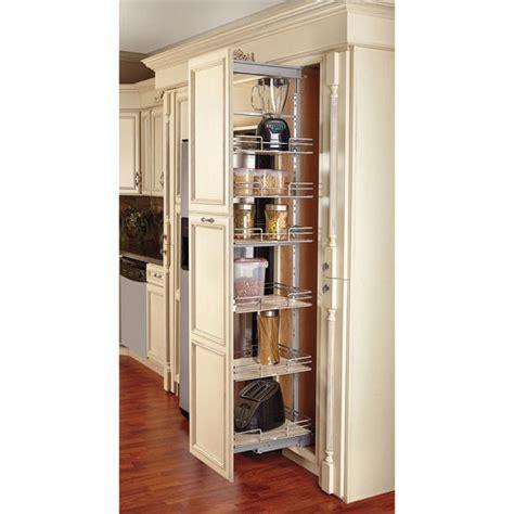 rev  shelf pull  pantry  maple shelves  tall