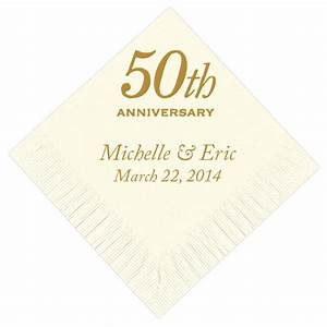 50th anniversary personalized napkins With 50th wedding anniversary napkins