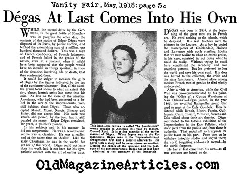 vanity fair articles edgar degas painting exhibit 1918 vanity fair magazine