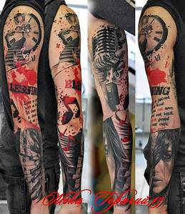 Amazing Music Sleeve Tattoo for Men | Joes ideas ...