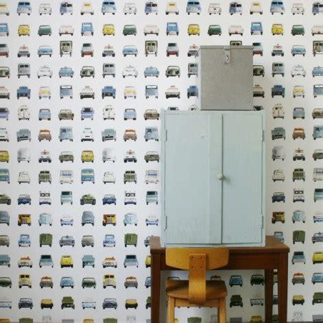 behang studio ditte jongenkamer vintage autos