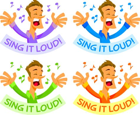 Clip Art Hoard: Sing it Loud - Sing Praises