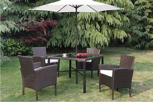 P50223 Outdoor Patio 6pc Table Set In Brown By Poundex