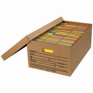 Legal size economy file storage boxes with lids box of 12 for Legal size document storage