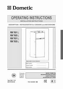 Dometic Rm 7855l User Manual