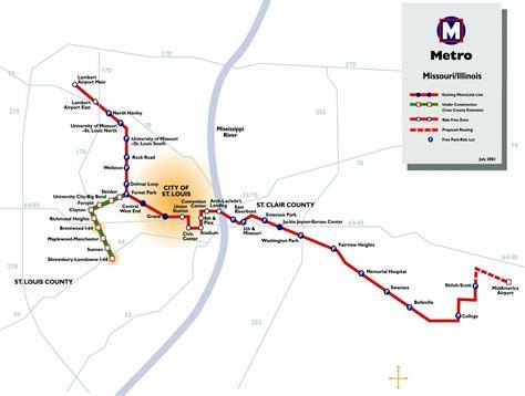 st louis light rail st louis metrolink light rail map