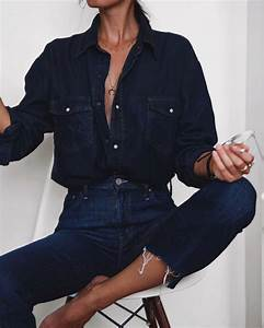 Best 25+ Denim shirts ideas on Pinterest | Denim shirt Jean shirt outfits and Jeggings outfit