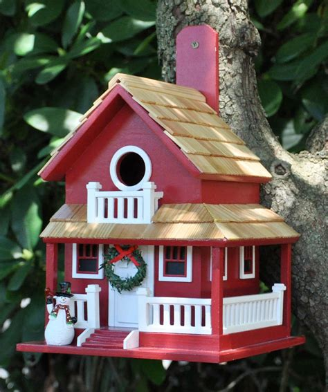 backyard christmas cottage burdhouse front stoop birdhouse  backyard