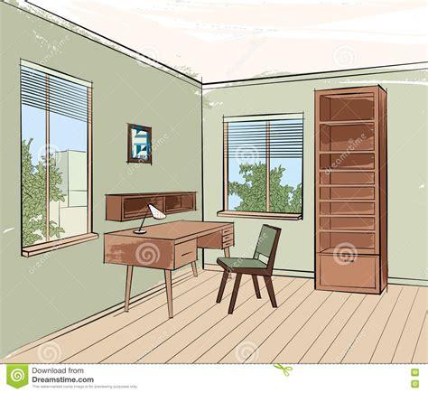 home interior work home interior work place furniture living room sketch stock illustration image 73299787