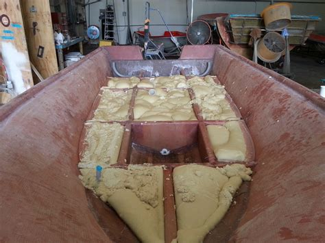 Boat Stringer System by Glass Stringers Filled With Foam The Hull