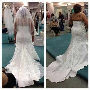 David39s bridal plus size wedding gown let me see pics for Plus size wedding dresses near me