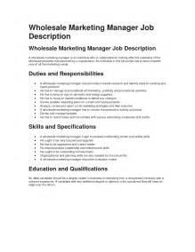 marketing manager duties resume wholesale marketing manager description best sle network jungle