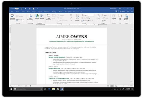 resume assistant  linkedins data   word