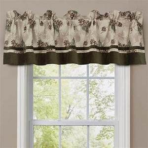 Pinecone Patch Lined Valance 50 Off Cabin Place