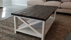 2 tone rustic coffee table tripledigit wood design With two tone wood coffee table