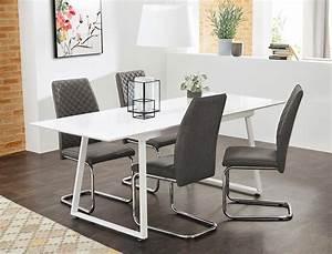 Esstisch Stühle Weiß : tischgruppe esstisch armin wei hochglanz 4 st hle ~ Michelbontemps.com Haus und Dekorationen