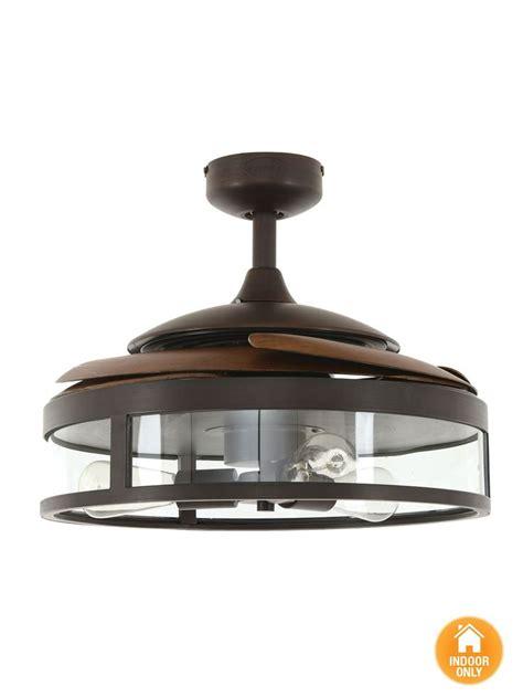 fanaway classic orb ceiling fan  clear retractable