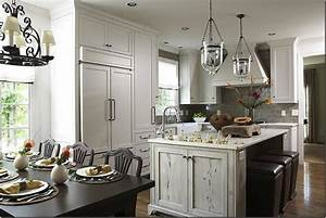 distressed kitchen island transitional kitchen dana With kitchen colors with white cabinets with pottery barn metal wall art