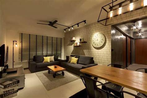 industrial modern interior design bto living interior design industrial modern finelinedesignstudio singapore hdb