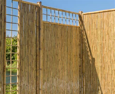 Garten Sichtschutz Oben by Bambus Sichtschutzzaun Mit Gitter Oben 180x180cm Kaufen