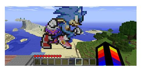 Sonic Pixel Art Minecraft Project