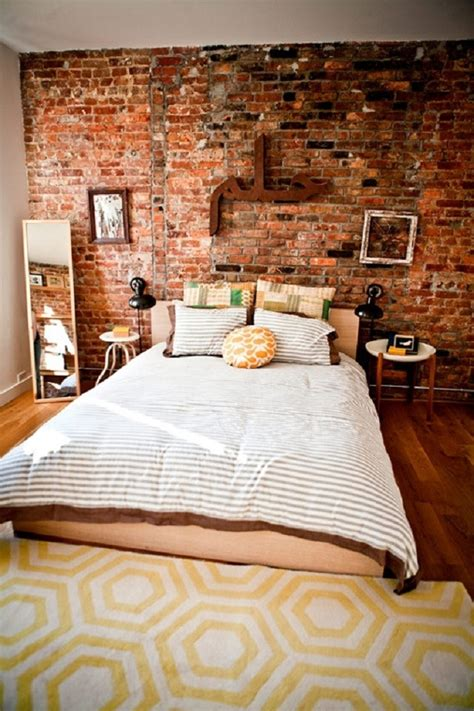 Decoration of bedroom wall decor ideas define. Breathtaking Exposed Brick Walls Interiors That You Will ...