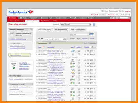 bank  america bank statement template case